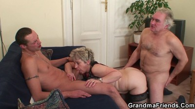 Old threesome orgy after..