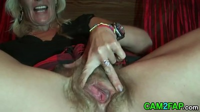Hairy Blonde Mature by Troc,..