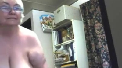 Crazy webcam solo with a fat..