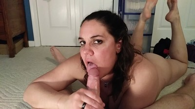 Cheating wife edges a cock..