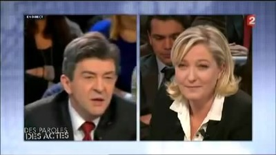 Melenchon destroys blonde..