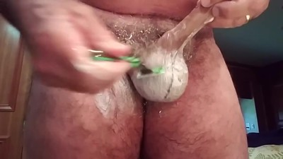 Jim Shaving his Cock and Balls