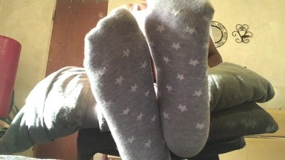 Mistress D grey socks