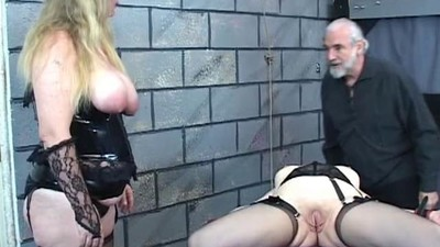 Lesbian torture victim with..
