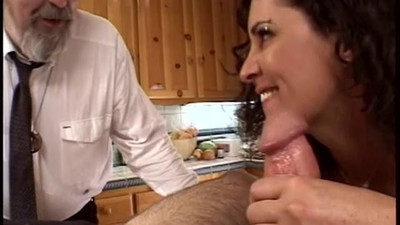 Horny husband watches his..