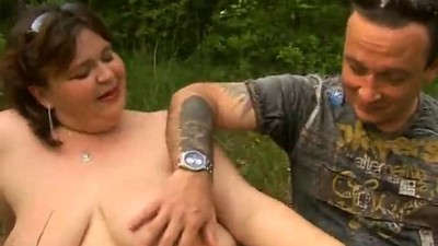 Hot BBW Fucked In The Forest