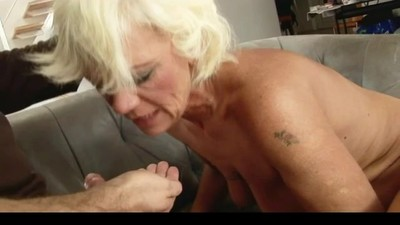 Hairy Blonde Mature With..