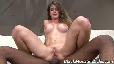 Busty Brunette Anal Fucked..