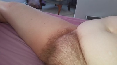 hairy pussy with her legs..