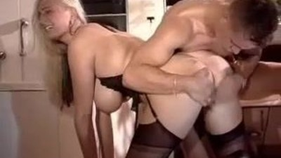 Busty Blonde With Lucky Guy