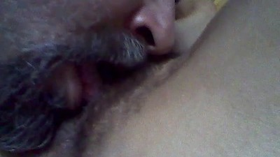 Licking wife's hairy..