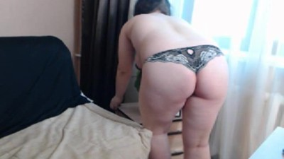 shy chubby young milf strips
