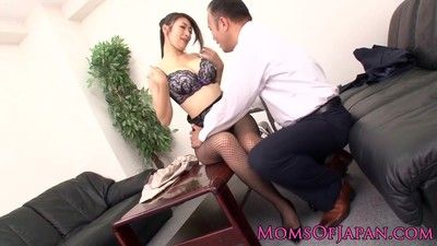 Japanese milf fucked at the..