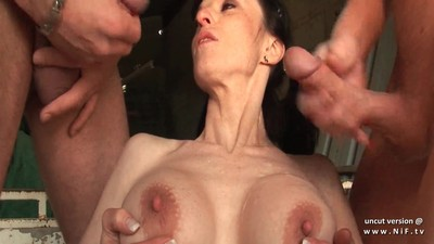 Big boobed french milf hard..