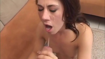 Hot Brunette Loves Facials