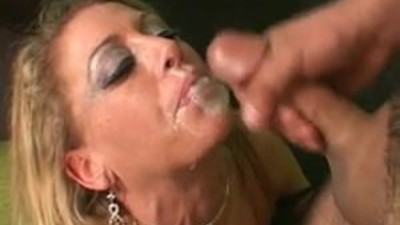 Hot MILF gets a load of jizz..