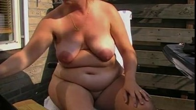 hot chubby mature with fat..